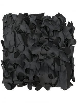 Стилизованный шарф Maria Calderara. Цвет: чёрный