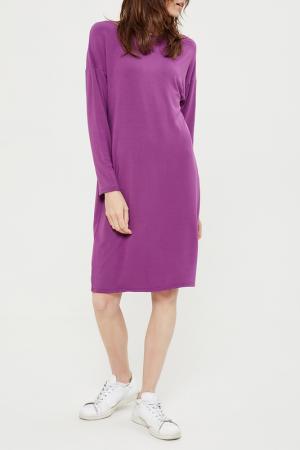 Свободное платье с длинными рукавами Lava. Цвет: фиолетовый