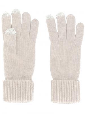 Перчатки для сенсорного экрана N.Peal. Цвет: телесный