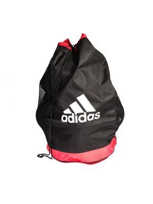 Сумка для мячей Adidas. Цвет: черный, красный