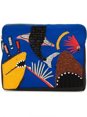 Клатч Safari Lizzie Fortunato Jewels. Цвет: синий