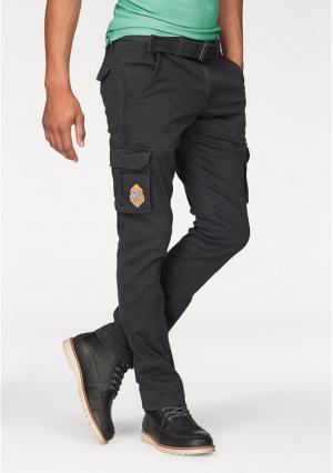 Комплект: брюки карго + ремень Rhode Island. Цвет: темно-серый