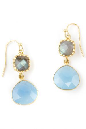 Серьги Donna Lorena. Цвет: голубой, серо-голубой
