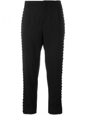 Укороченные брюки 162 Parent A.F.Vandevorst. Цвет: чёрный