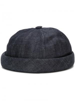 Джинсовая шапка Miki Beton Cire. Цвет: синий