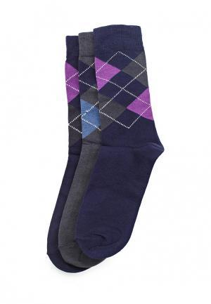 Комплект носков 3 пары Uomo Fiero. Цвет: синий
