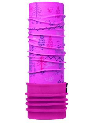 Бандана BABY POLAR WOODS PINK / DRAGON FRUIT Buff. Цвет: розовый
