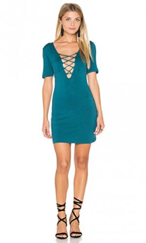 Мини платье carley De Lacy. Цвет: сине-зеленый