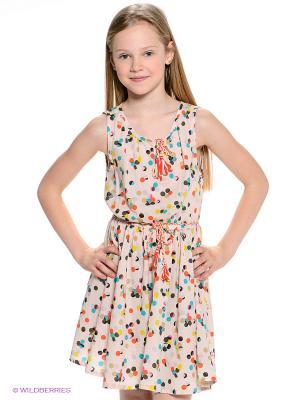 Платье American Outfitters. Цвет: бежевый