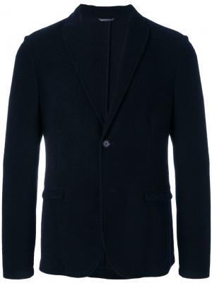 Пиджак на пуговицах Daniele Alessandrini. Цвет: синий