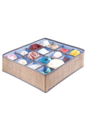 Органайзер для носков 16 ячеек CASY HOME. Цвет: синий