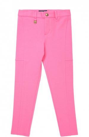 Брюки прямого кроя с прострочкой Polo Ralph Lauren. Цвет: розовый