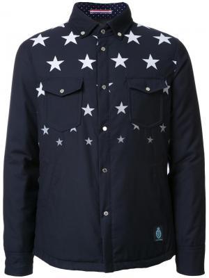 Куртка с принтом звезд Guild Prime. Цвет: синий