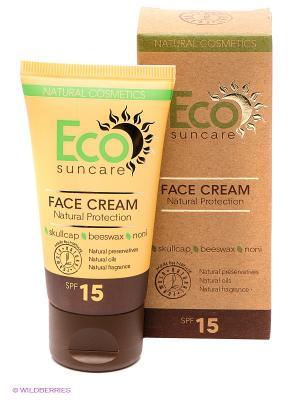 Солнцезащитный крем для лица Natural Sun Protection Face Cream SPF 15, 50мл PULANNA. Цвет: желтый