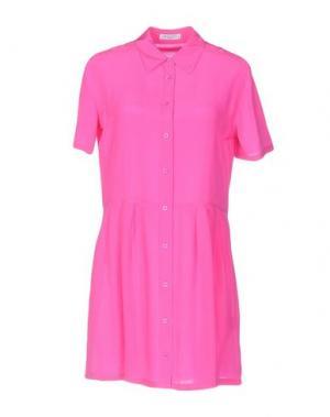 Короткое платье EQUIPMENT FEMME. Цвет: фуксия