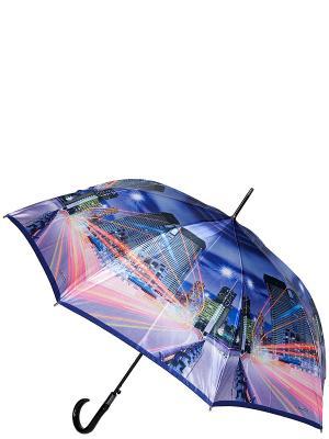 Зонт-трость Eleganzza. Цвет: синий, бледно-розовый, голубой