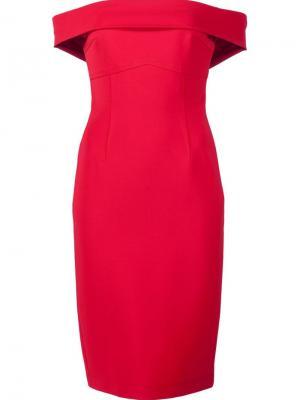 Платье Off the Shoulder Yigal Azrouel. Цвет: красный
