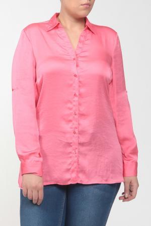 Рубашка-блузка Elena Miro. Цвет: розовый