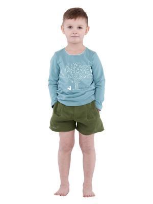 Лонгслив Чудес Sardina Baby. Цвет: серо-голубой