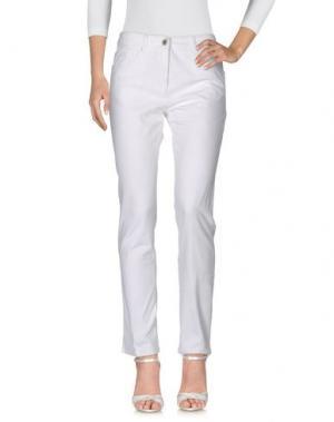 Джинсовые брюки PAUSE CAFÉ. Цвет: белый