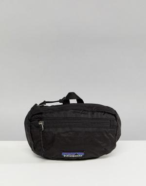 Patagonia Легкая сумка‑кошелек на пояс. Цвет: черный