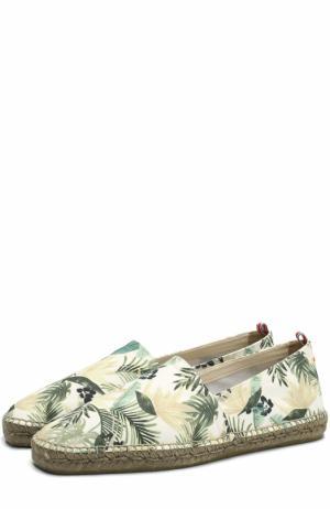 Текстильные эспадрильи с цветочным принтом Castaner. Цвет: зеленый