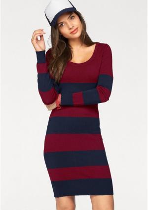 Платье AJC. Цвет: бордовый/темно-синий, зелено-синий, серо-коричневый, серо-коричневый/черный, темно-синий, черный
