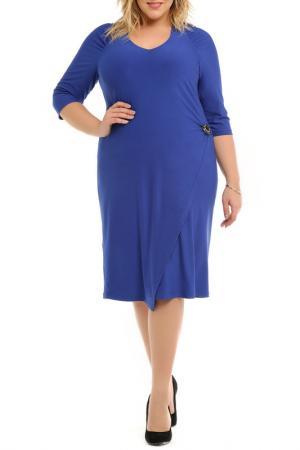 Платье с брошью Svesta. Цвет: синий