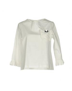 Блузка PINK BOW. Цвет: белый