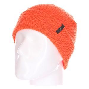 Шапка  Clan Floro Beanie Orange Celtek. Цвет: оранжевый