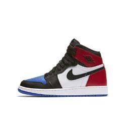 Кроссовки для школьников Air Jordan 1 Retro High OG Nike. Цвет: черный