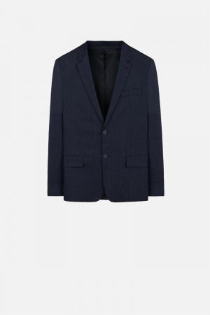 Пиджак на две пуговицы Ami Alexandre Mattiussi. Цвет: синий