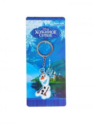 Брелок Холодное сердце, сердце Disney. Цвет: синий, лазурный, серо-зеленый, серебристый, светло-коричневый, молочный, оранжевый