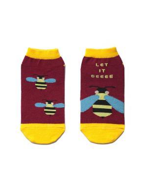 Носки укороченные Big Bang Socks. Цвет: бордовый