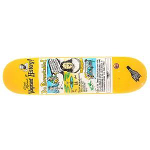 Дека для скейтборда  Trujillo Vagrant History Multi 32 x 8.06 (20.5 см) Antihero. Цвет: мультиколор,желтый