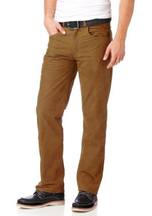 Кожаные брюки Arizona. Цвет: черный