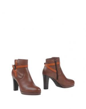 Полусапоги и высокие ботинки MANAS. Цвет: коричневый