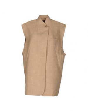 Легкое пальто WEILI ZHENG. Цвет: песочный