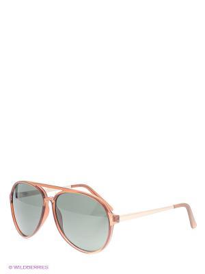 Солнцезащитные очки Oodji. Цвет: коричневый, черный