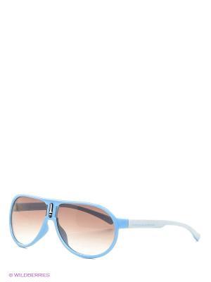 Очки солнцезащитные United Colors of Benetton. Цвет: голубой, белый