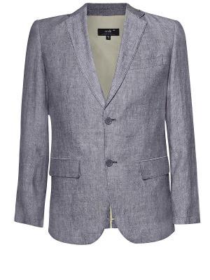 Пиджак Oodji. Цвет: серый, бронзовый