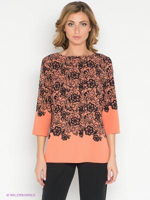 Блузка Pompa. Цвет: оранжевый, черный