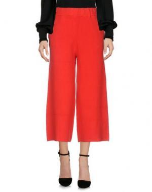 Повседневные брюки MICHELA MII. Цвет: красный