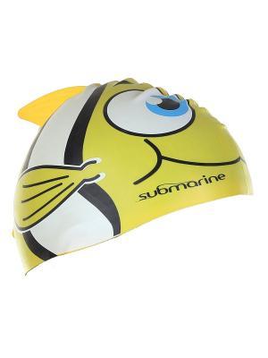 Шапочка плавательная детская Рыбка Larsen. Цвет: черный, желтый