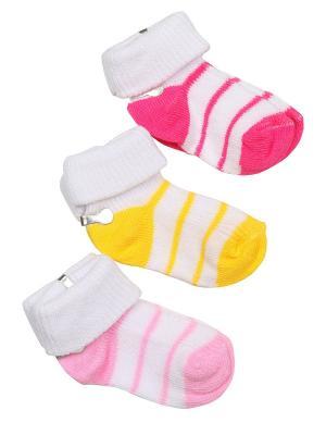Носки-пинетки M-BABY. Цвет: розовый,желтый,фуксия