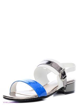 Сандалии JUST COUTURE. Цвет: синий, белый