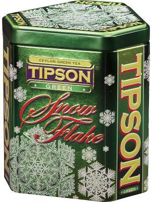 Чай Tipson Зеленая Снежинка, 100гр., ж/б. Цвет: зеленый