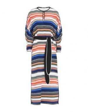 Длинное платье EDUN. Цвет: синий