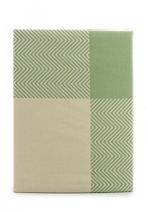 Комплект постельного белья Семейный Хлопковый Край. Цвет: зеленый