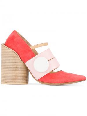 Туфли-лодочки Les Chaussures Gros Bouton Jacquemus. Цвет: красный